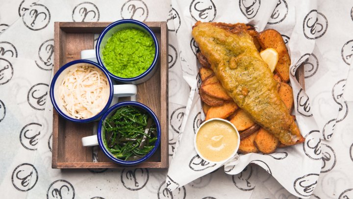 New school fish and chips